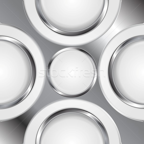 Abstract background with silver metal circles Stock photo © saicle