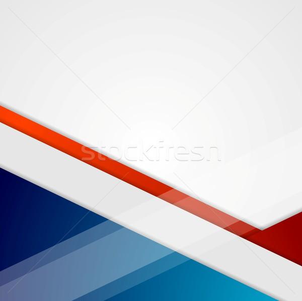 Kurumsal geometrik en az vektör teknoloji dizayn Stok fotoğraf © saicle