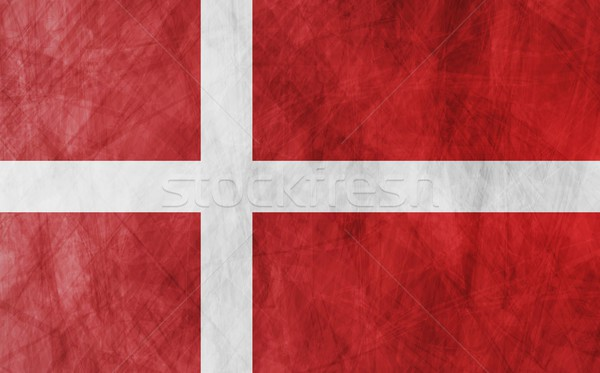 Danish grunge flag background Stock photo © saicle