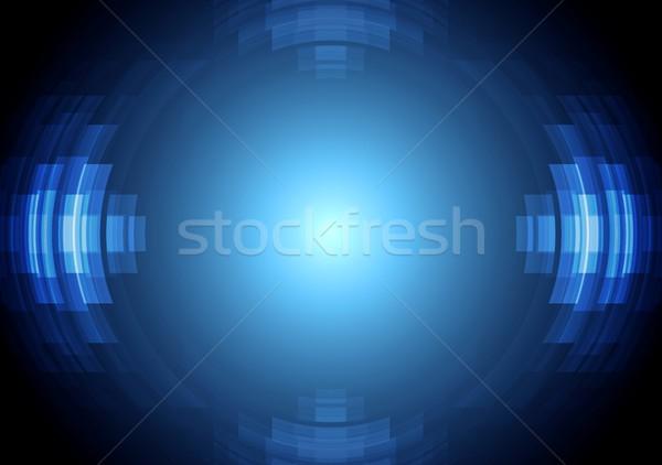 Abstract blue hi-tech vector background Stock photo © saicle