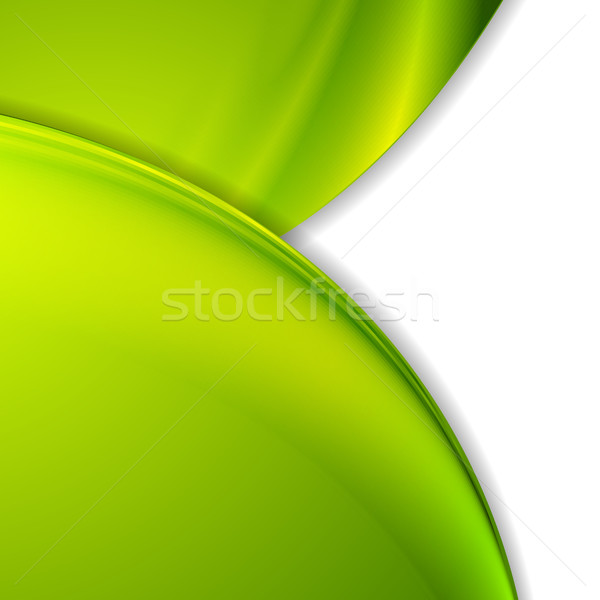 Bright green smooth wavy corporate background Stock photo © saicle