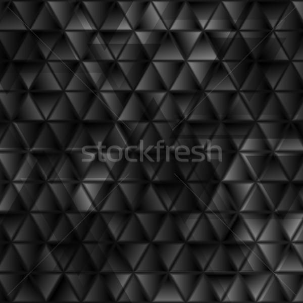 Soyut teknoloji siyah parlak geometrik mozaik Stok fotoğraf © saicle