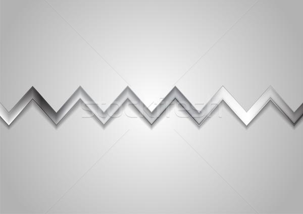 Abstract metallic zig zag stripe background Stock photo © saicle