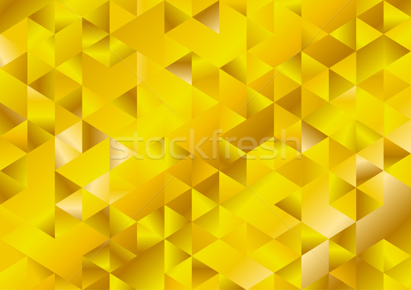 Gold glitter triangles mosaic technical background Stock photo © saicle