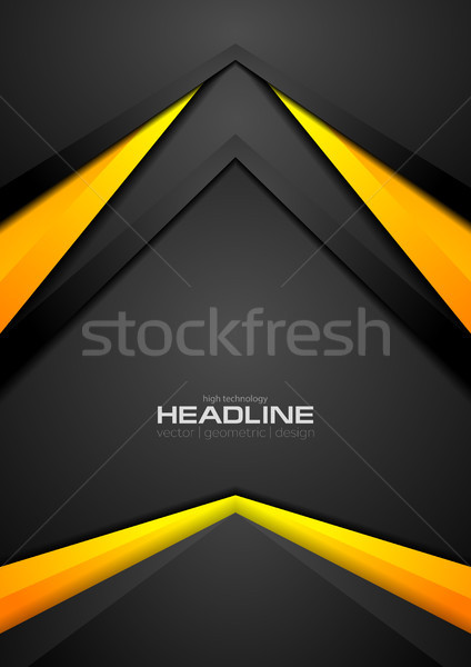 Black and orange contrast abstract tech background Stock photo © saicle