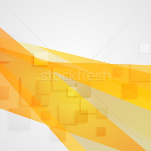 Streszczenie pomarańczowy tech minimalny geometryczny Zdjęcia stock © saicle