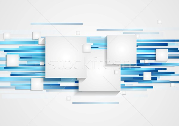 Abstract tech geometry background Stock photo © saicle