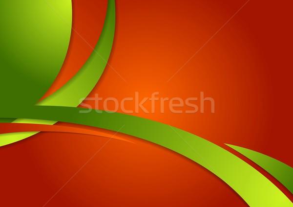 Abstract luminoso contrasto ondulato corporate vettore Foto d'archivio © saicle