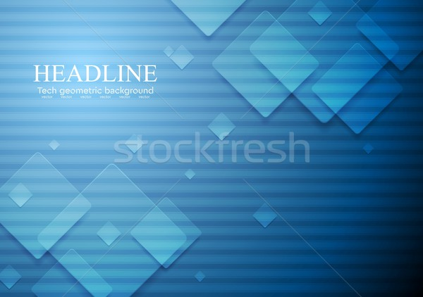 Hi-tech geometric dark blue background Stock photo © saicle
