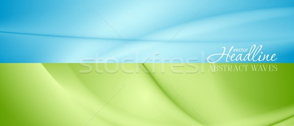 Abstract bright banners with soft waves Stock photo © saicle