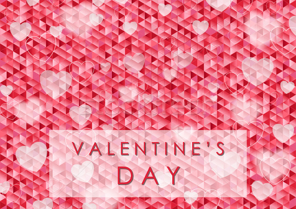 Valentine Day polygonal pixelated abstract background Stock photo © saicle