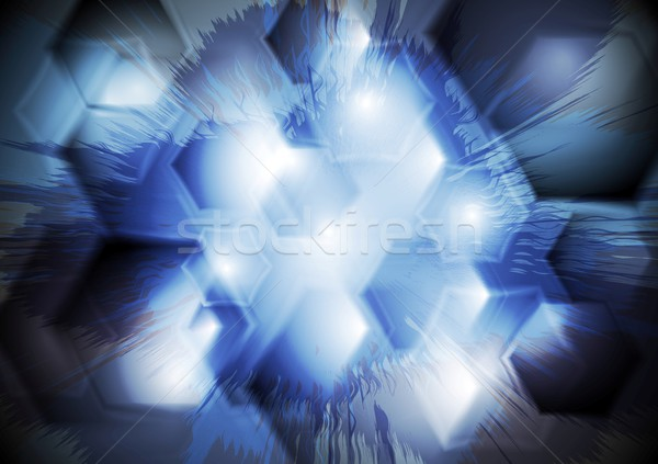 Grunge vector abstractie abstract tech textuur Stockfoto © saicle