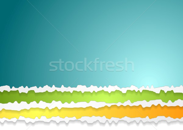 Stock photo: Ragged edge paper abstract background