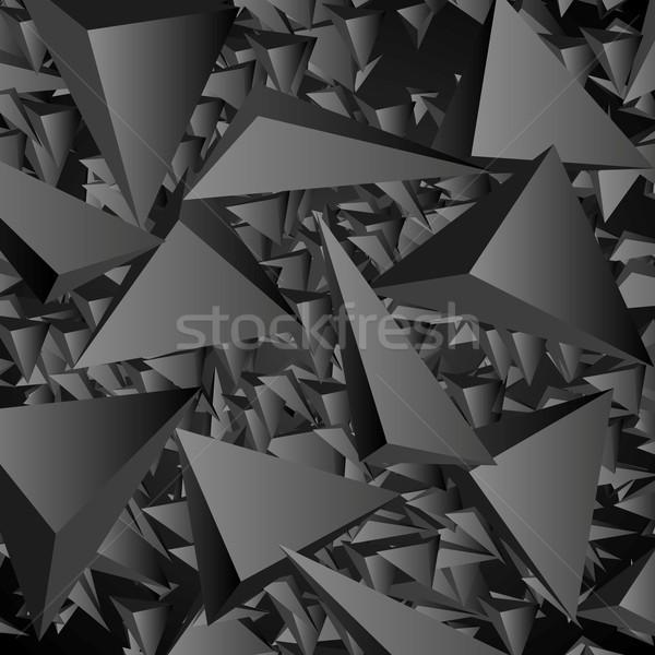 Dark geometric polygonal vector background Stock photo © saicle
