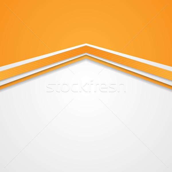 Resumen tecnología empresarial naranja vector diseno Foto stock © saicle