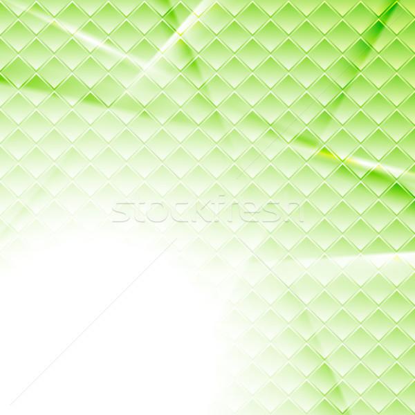 薄緑 ハイテク 抽象的な 正方形 テクスチャ ストックフォト © saicle