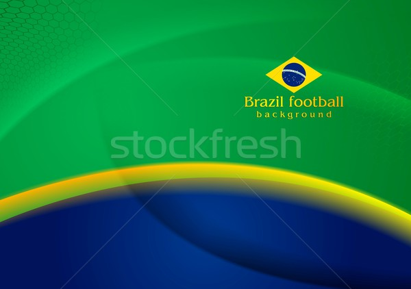 Waves background in Brazilian colors Stock photo © saicle