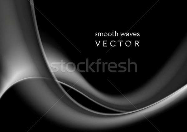 Elegante gris ondulado humo resumen vector Foto stock © saicle