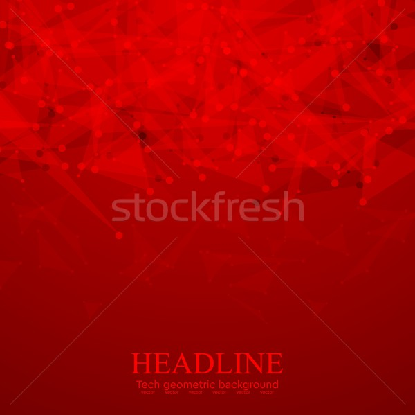 Bright red tech polygonal background Stock photo © saicle