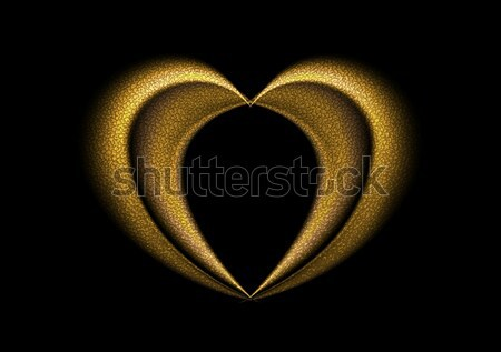 Smooth blurred golden heart background Stock photo © saicle