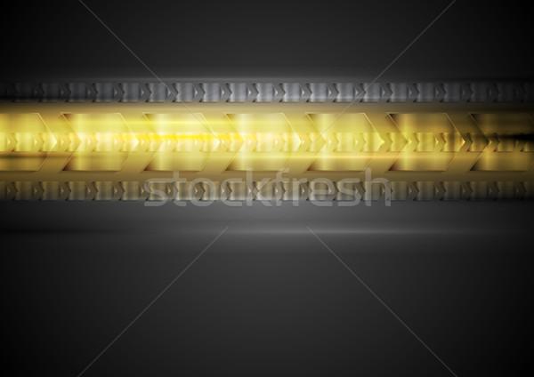 Tech citromsárga izzik absztrakt textúra fény Stock fotó © saicle