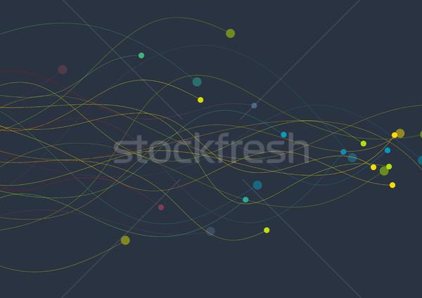 Colorato ondulato linee circuito design vettore Foto d'archivio © saicle