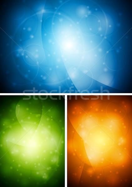 Brilhante vetor projeto abstrato colorido fundos Foto stock © saicle
