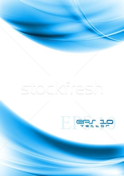 Brillante azul vector ondulado diseno colorido Foto stock © saicle