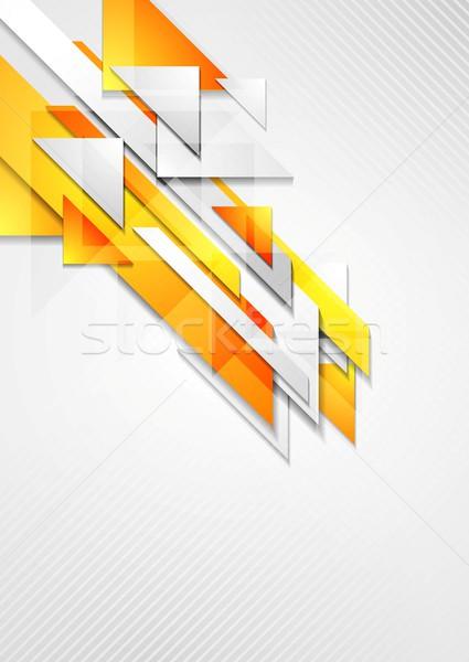 Fényes mértan vektor terv textúra absztrakt Stock fotó © saicle