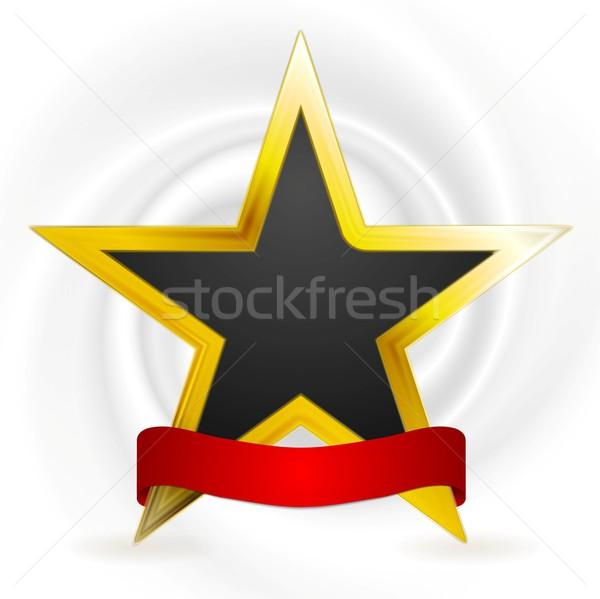 Zdjęcia stock: Złota · star · zwycięzca · projektu · wektora