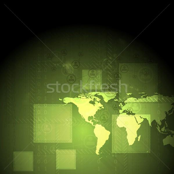 Absztrakt zöld vektor vállalati terv térkép Stock fotó © saicle