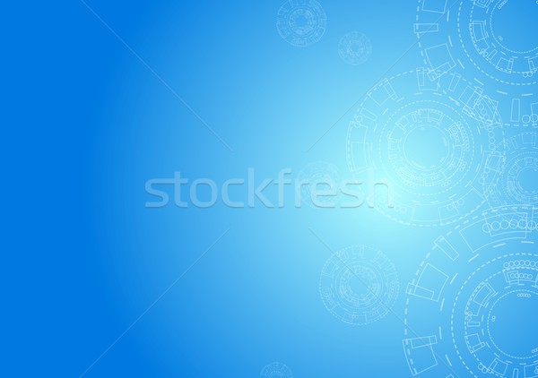 Abstract hi-tech minimal background with gears Stock photo © saicle