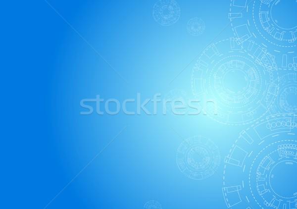 аннотация минимальный передач синий вектора графических Сток-фото © saicle