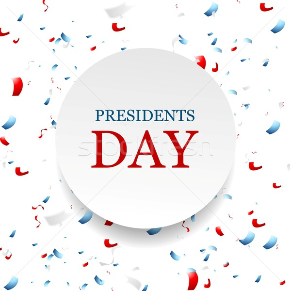 Presidents Day abstract USA colors confetti background Stock photo © saicle