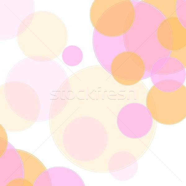 Pastel kolory streszczenie minimalny circles projektu Zdjęcia stock © saicle