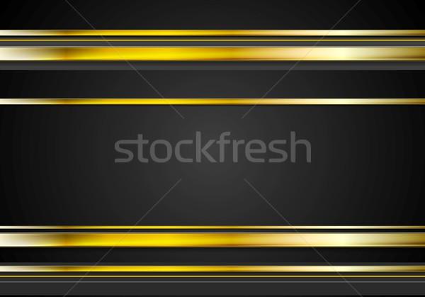 Mínimo abstrato tecnologia dourado vetor tecnologia Foto stock © saicle
