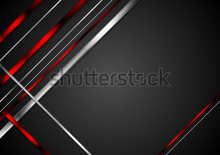 Black background with red and metallic stripes Stock photo © saicle