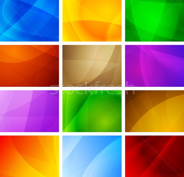 Abstract backgrounds collection Stock photo © saicle