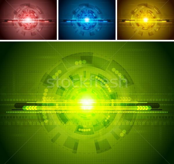 Set of tech backdrops Stock photo © saicle