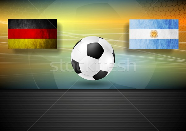 Soccer background. Germany and Argentina football design Stock photo © saicle
