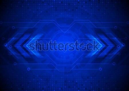 商业照片: 黑暗 · 向量 · 高科技 · 电路板 · 箭头 · 蓝色