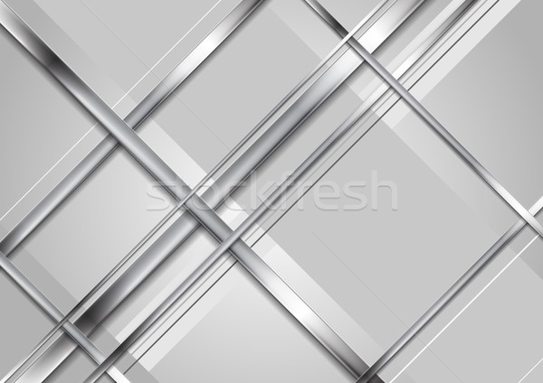 Grey abstract technology metallic background Stock photo © saicle