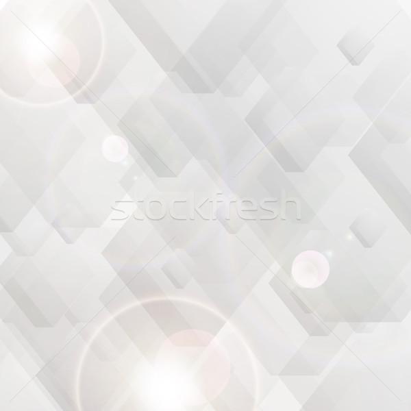 Gri teknoloji çokgen soyut geometrik vektör Stok fotoğraf © saicle