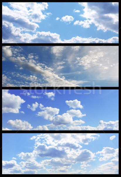 небе Баннеры коллекция набор красивой небесный Сток-фото © saicle