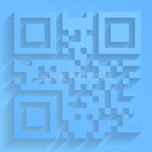 Wektora qr code streszczenie projektu komputera świat Zdjęcia stock © saicle