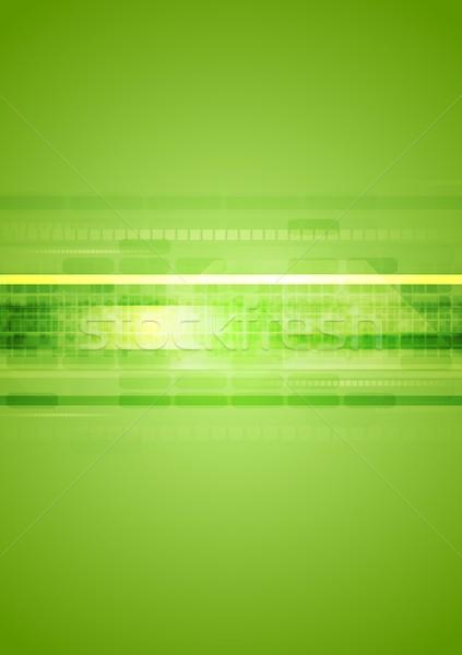 Zielone streszczenie wektora tekstury projektu technologii Zdjęcia stock © saicle
