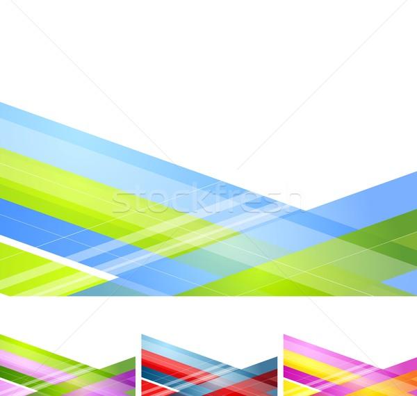 Streszczenie geometryczny minimalny wektora świetle projektu Zdjęcia stock © saicle