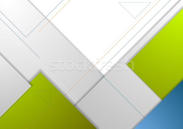 Tech minimal corporate flyer template Stock photo © saicle