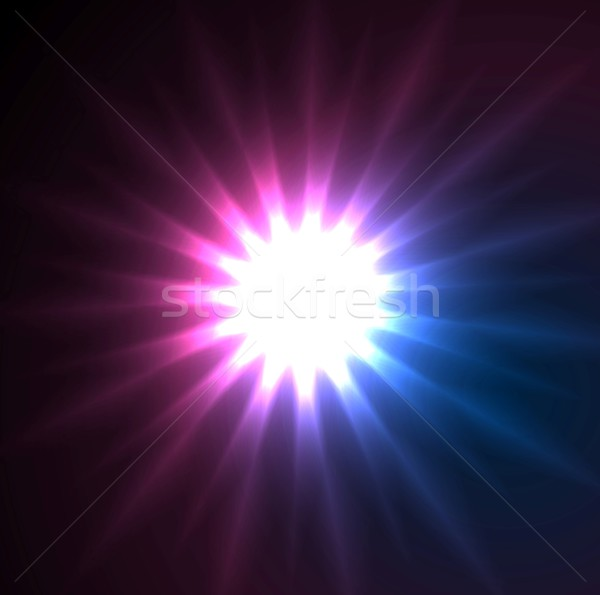 Glowing star beams abstract background Stock photo © saicle