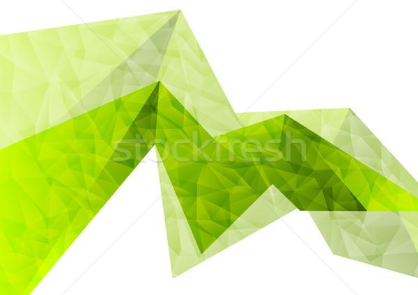 緑 抽象的な ハイテク ポリゴン ベクトル デザイン ストックフォト © saicle